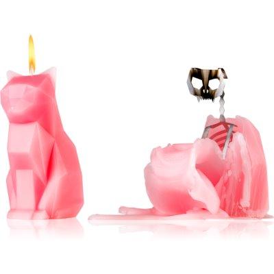 ukrasna svijeća 17 cm Dusty Pink
