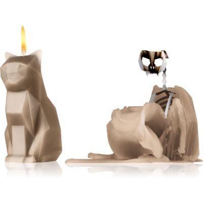 ukrasna svijeća 17 cm Grey