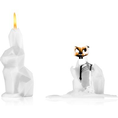 ukrasna svijeća 17 cm White