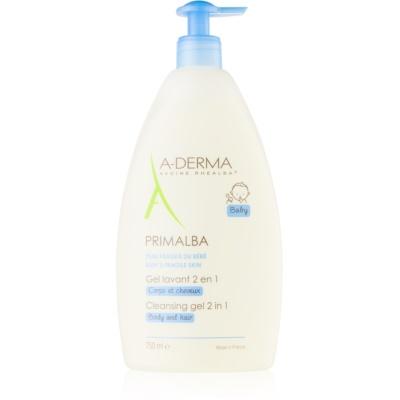 A-Derma Primalba Baby Washing Gel for Body and Hair for Kids