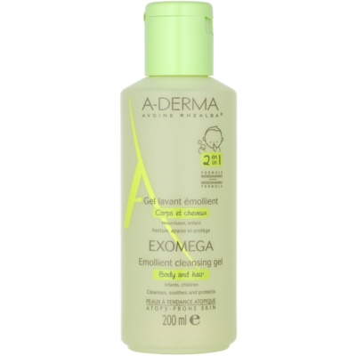 A-Derma Exomega Softening Cleansing Gel for Body and Hair For Kids