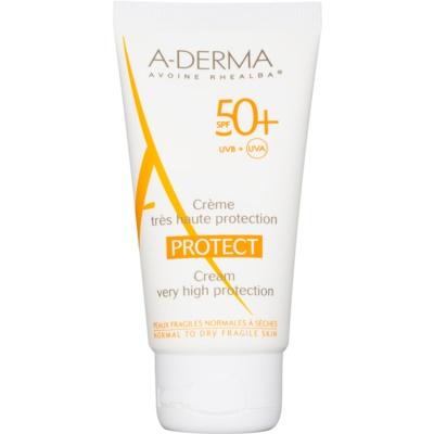 A-Derma Protect защитен крем за нормална към суха кожа SPF 50+