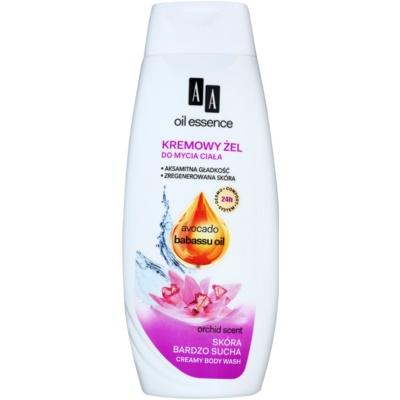 кремообразен душ гел за много суха кожа