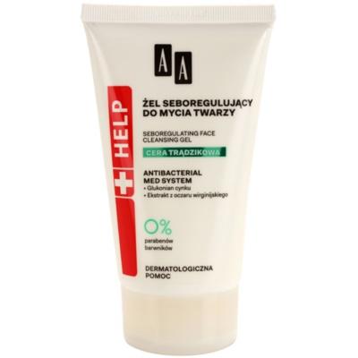 antibakteriální čisticí gel pro redukci kožního mazu