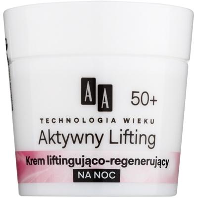 crème de nuit régénératrice raffermissante 50+