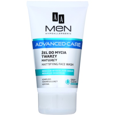 AA Cosmetics Men Advanced Care Mattifying Cleansing Gel for Face