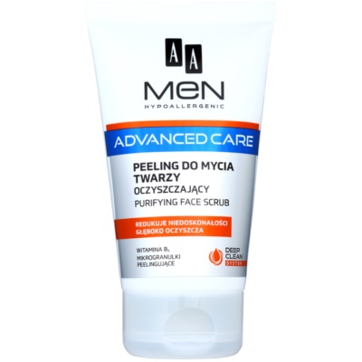 AA Cosmetics Men Advanced Care gel exfoliant purifiant visage