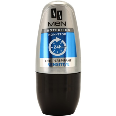 AA Cosmetics Men Sensitive Antiperspirant Roll-On Fragrance-Free