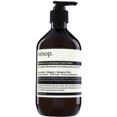 Aésop Body Reverence Aromatique savon liquide exfoliant mains