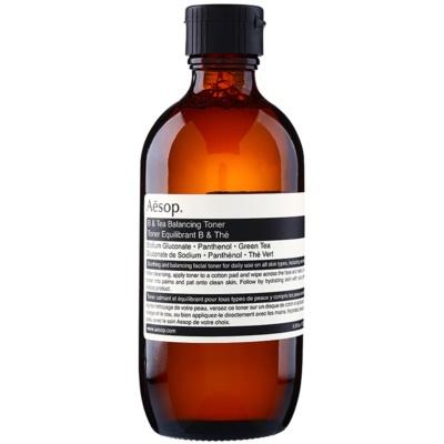 Aēsop Skin B & Tea tónico limpiador suave apto para pieles sensibles