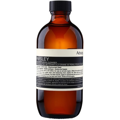 Aēsop Skin Parsley Seed gel de limpeza suave para todos os tipos de pele