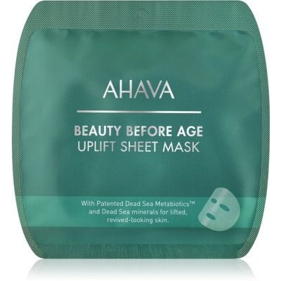 Ahava Beauty Before Age gladilna maska iz platna z učinkom liftinga