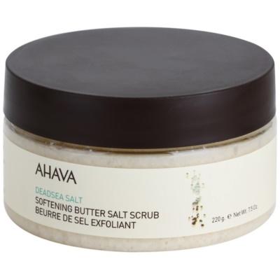 Ahava Dead Sea Salt zjemňující peelingové máslo se solí z Mrtvého moře