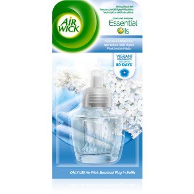Air Wick Essential Oils Cool Linen & White Lilac електричний освіжувач повітря  запасний наповнювач