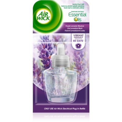Air Wick Essential Oils Purple Lavander Meadow Electric Air Freshener  Refill
