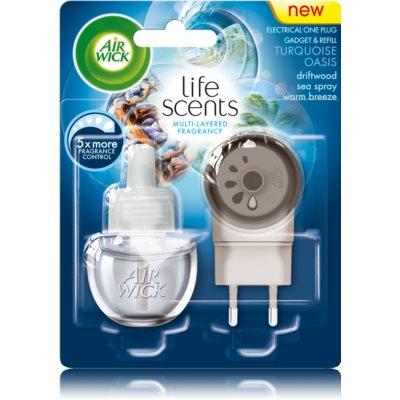 air wick life scents turquoise oasis diffuseur lectrique de parfum d 39 ambiance 19 ml recharge. Black Bedroom Furniture Sets. Home Design Ideas
