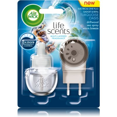 Air Wick Life Scents Turquoise Oasis elektrický osviežovač vzduchu 19 ml s náplňou