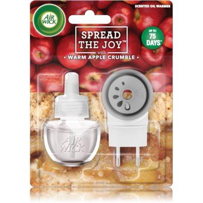 Air Wick Spread the Joy Warm Apple Crumble електричний освіжувач повітря  з наповненням