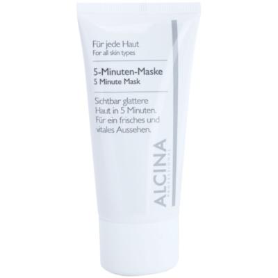 máscara de 5 minutos para uma pele com aparência fresca