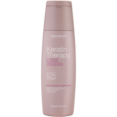 Alfaparf Milano Lisse Design Keratin Therapy Nourishing Conditioner Sulfate and Paraben Free