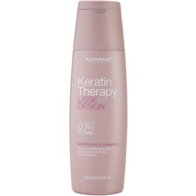 Alfaparf Milano Lisse Design Keratin Therapy delikatny szampon oczyszczający bez sulfatów i parabenów