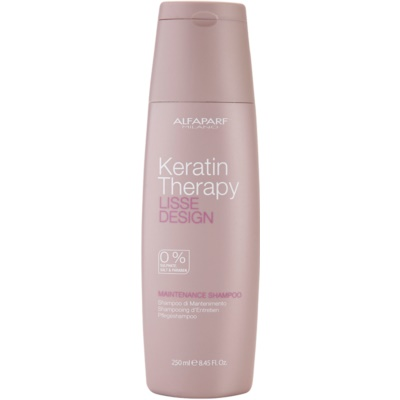 Alfaparf Milano Lisse Design Keratin Therapy sanftes Reinigungsshampoo ohne Sulfat und Parabene