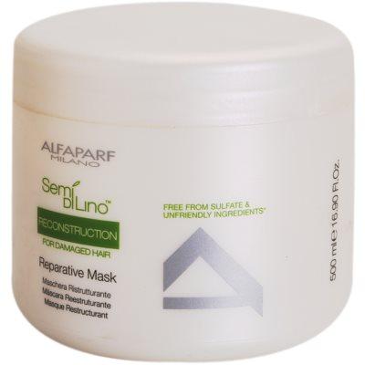 regeneráló maszk a károsult hajra