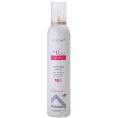 espuma de cabelo fixação média