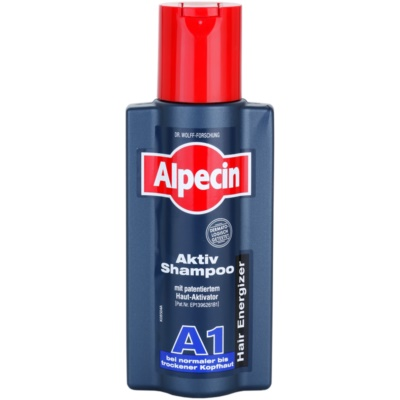 Alpecin Hair Energizer Aktiv Shampoo A1 Hair Activating Shampoo For Normal To Dry Scalp