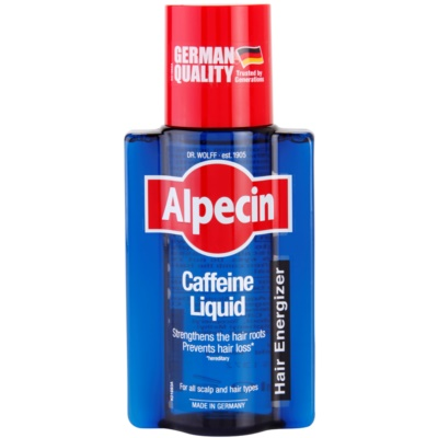 Alpecin Hair Energizer Caffeine Liquid tónico con cafeína  anticaída del cabello para hombre