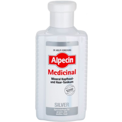 Alpecin Medicinal Silver lozione tonica per capelli neutralizzante per toni gialli