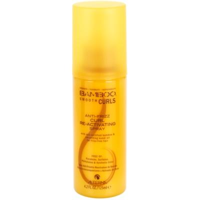 abspülfreies Spray für welliges Haar