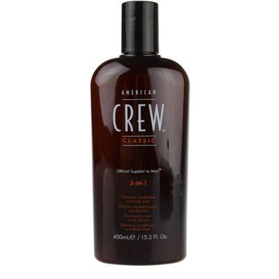 šampon, balzam in gel za prhanje 3v1 za moške