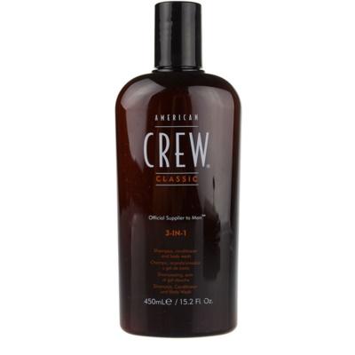 shampoing, après-shampoing et gel douche 3 en 1 pour homme