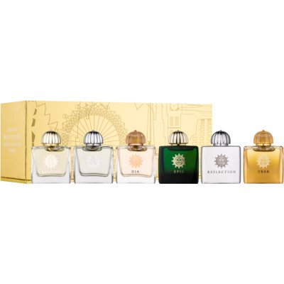 Amouage Miniatures Bottles Collection Women Gift Set IV. Ubar, Dia, Ciel, Reflection, Epic, Beloved
