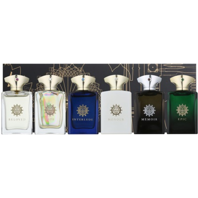 Amouage Miniatures Bottles Collection Men ajándékszett III. Lyric, Epic, Memoir, Honour, Interlude, Fate