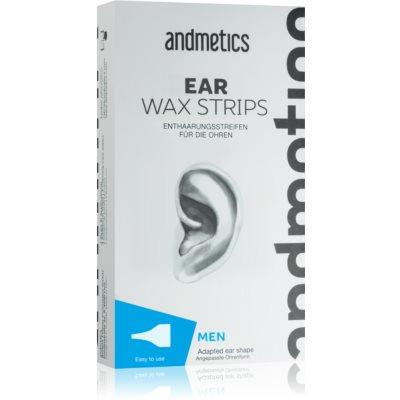 andmetics Wax Strips αποτριχωτικές ταινίες κεριού για τα αυτιά