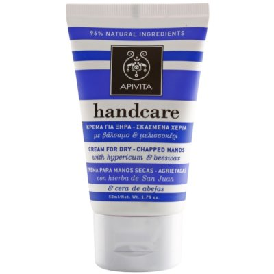 Apivita Hand Care Hypericum & Beeswax Cream for Dry-Chapped Hands