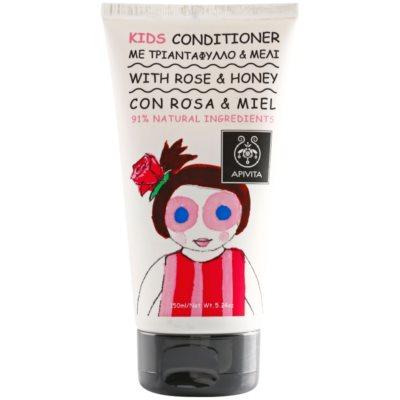 Apivita Kids Rose & Honey balsamo per capelli per bambini