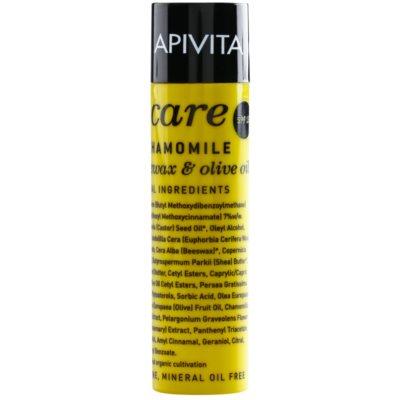 Apivita Lip Care Chamomile Beschermende Lippenbalsem SPF 15