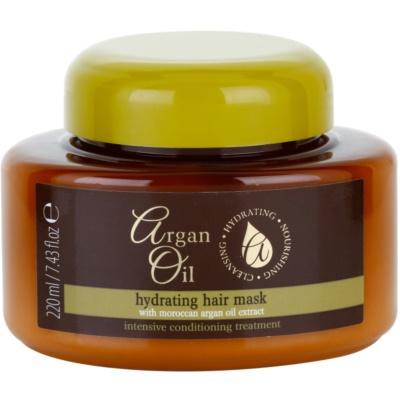 hranilna maska za lase z arganovim oljem