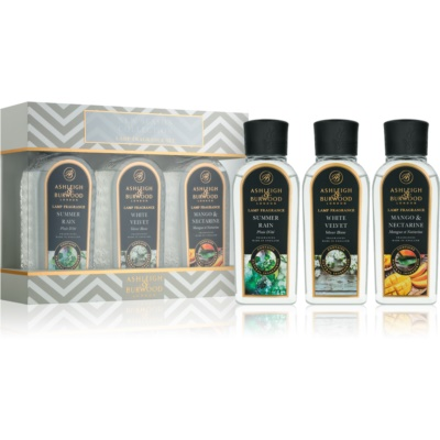 Ashleigh & Burwood London Lamp Fragrance New Season Gift Set I. Summer Rain, White Velvet, Mango & Nectarine