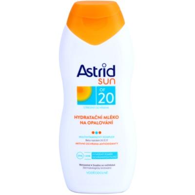 hydratační mléko na opalování SPF 20