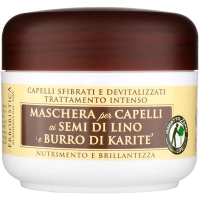 maska s lněným olejem pro suché a poškozené vlasy