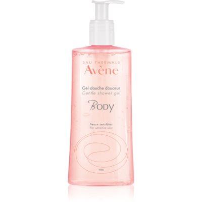 nežni gel za prhanje za občutljivo kožo