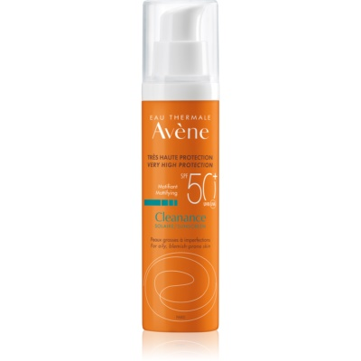 Avène Cleanance Solaire Mattifying Protective Treatment for Acne-Prone Skin SPF 50+