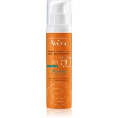 Avène Cleanance Solaire matt védő ápolás aknéra hajlamos bőrre SPF 50+