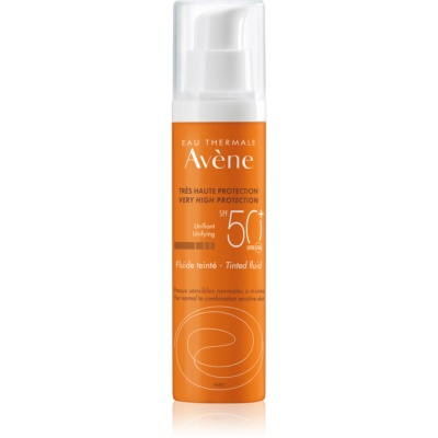 tonirani zaščitni fluid za normalno do mešano kožo SPF50+