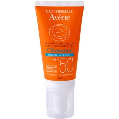 Avène Cleanance Solaire protector solar para pieles con tendencia acnéica SPF 50+