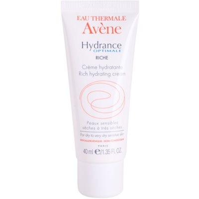Avène Hydrance crème hydratante pour peaux sèches à très sèches